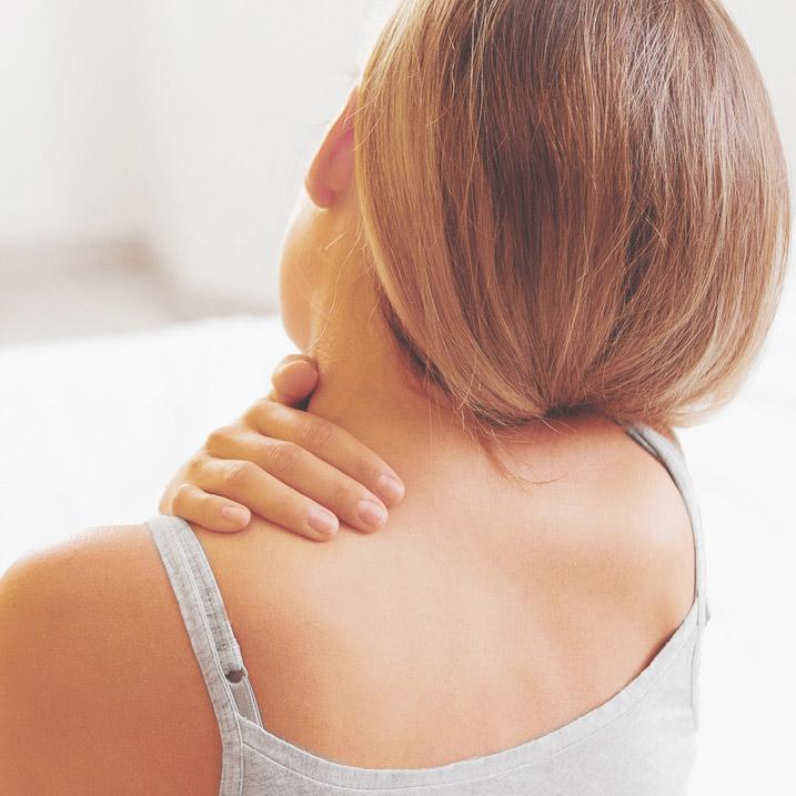 Contractura cervical en músculo trapecio